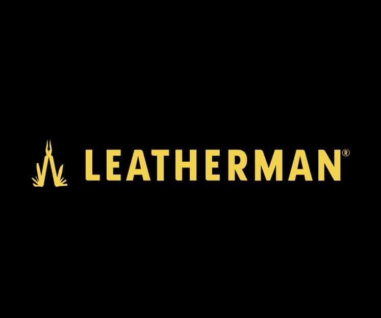Logo Leatherman negro